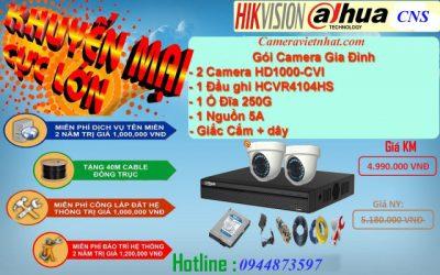 Bộ camera hikvision 2 mắt